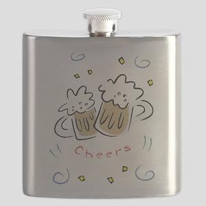 beer mugs, cheers Flask