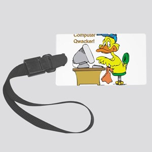 duck,computer qwacker Large Luggage Tag