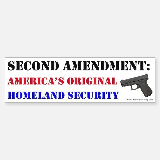 Second Amendment Original Homeland Bumper Bumper Bumper Sticker