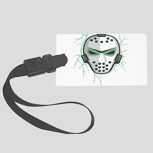 lightning,green,mask Large Luggage Tag