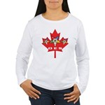 OES Canadian Maple Leaf Women's Long Sleeve T-Shir