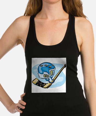 stick and helmet.jpg Racerback Tank Top