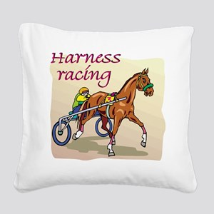 harness racing glow Square Canvas Pillow
