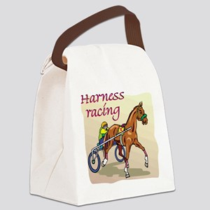 harness racing glow Canvas Lunch Bag