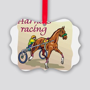 harness racing glow Picture Ornament