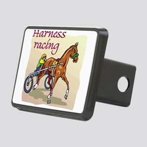 harness racing glow Rectangular Hitch Cover