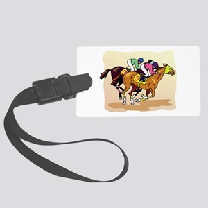 horse racing Large Luggage Tag