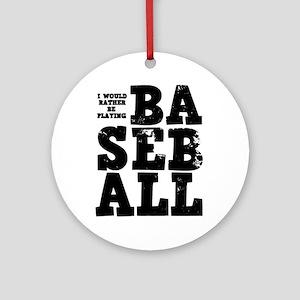 'Playing Baseball' Ornament (Round)