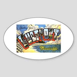 Gulfport Mississippi Greetings Oval Sticker