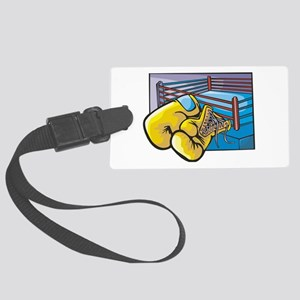 boxing ring and gloves Large Luggage Tag