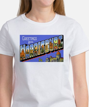 Harrisburg Pennsylvania Greetings (Front) Tee