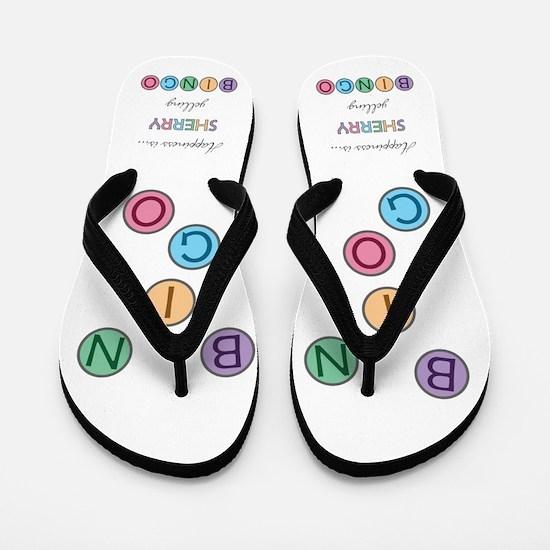 Sherry BINGO Flip Flops