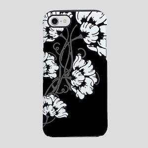 art-nov-flower_bw_13-5x18 iPhone 7 Tough Case