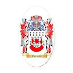 Capman Oval Car Magnet