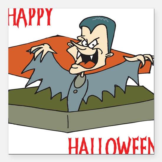 """dracula5,happy-halloween.png Square Car Magnet 3"""""""
