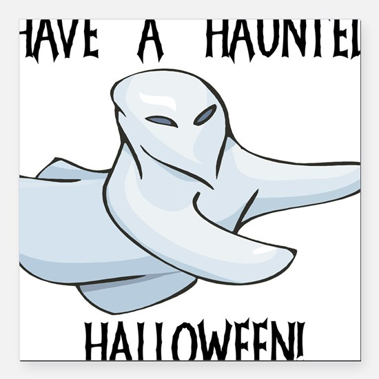 """ghost2,haunted-halloween.png Square Car Magnet 3"""""""