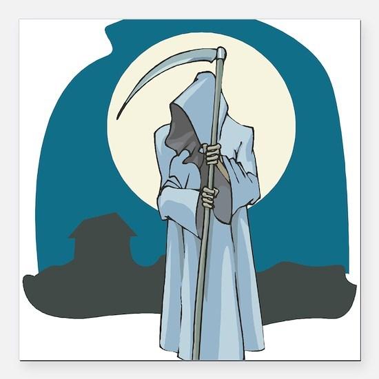 "grim-reaper.png Square Car Magnet 3"" x 3"""