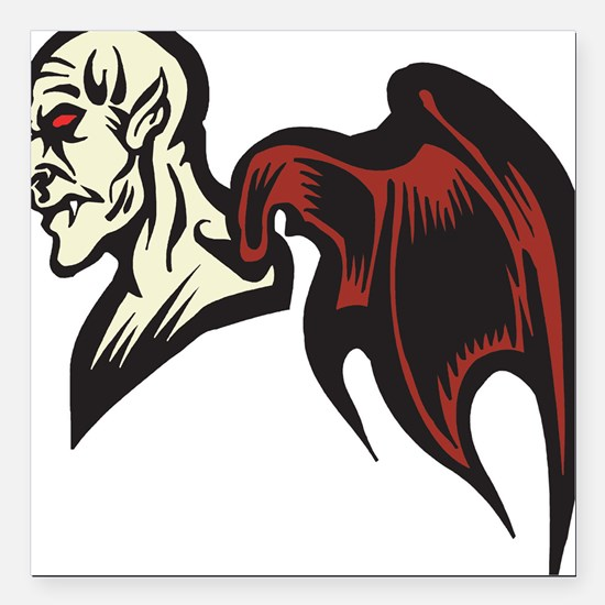 """halloween-beast.png Square Car Magnet 3"""" x 3"""""""