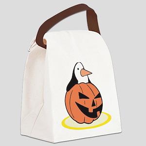 pumpkin,penguin Canvas Lunch Bag