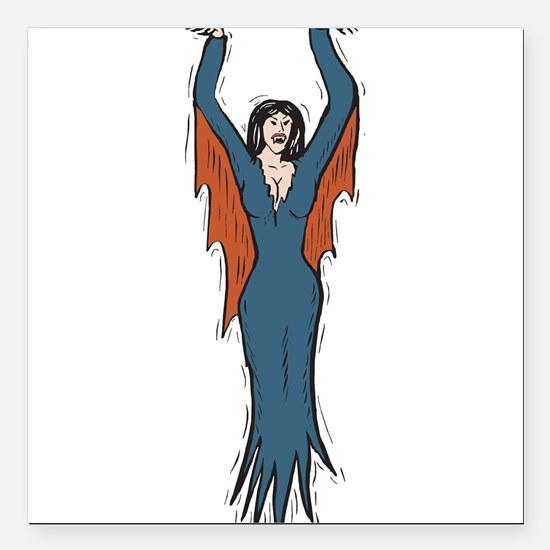 """vampire-chick.png Square Car Magnet 3"""" x 3"""""""