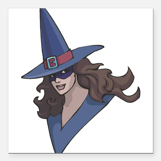 """witch.png Square Car Magnet 3"""" x 3"""""""