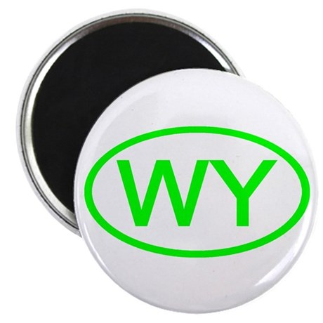"""WY Oval - Wyoming 2.25"""" Magnet (10 pack)"""