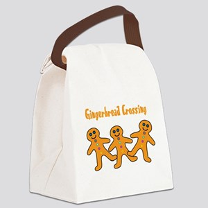 gingerbread-crossing Canvas Lunch Bag