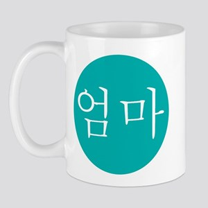 """Mom"" in Teal Mug"
