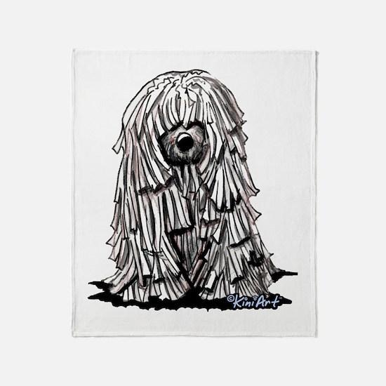 Puli Dog Throw Blanket