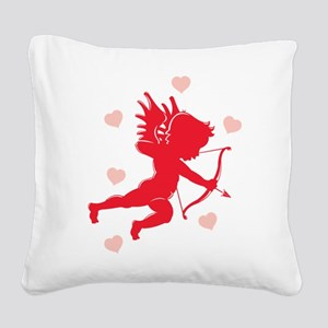 cupid,hearts Square Canvas Pillow