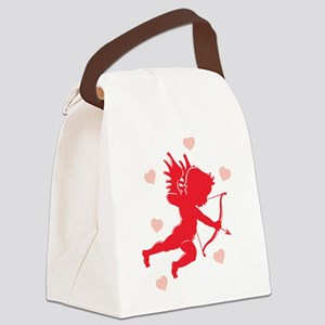 cupid,hearts Canvas Lunch Bag