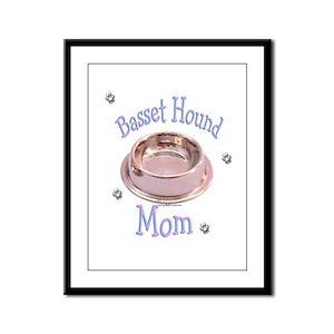 Basset Hound Mom Framed Panel Print