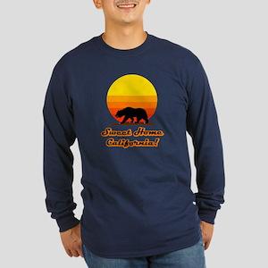Sweet Home California Long Sleeve Navy Blue TShirt