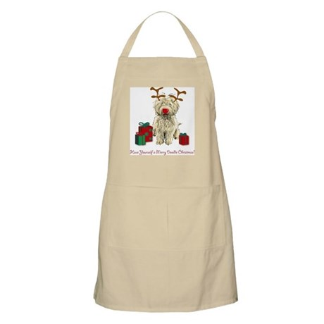 Merry Doodle Christmas BBQ Apron