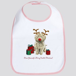 Merry Doodle Christmas Bib