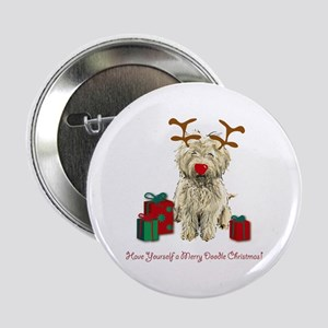 Merry Doodle Christmas Button