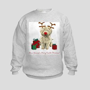 Merry Doodle Christmas Kids Sweatshirt