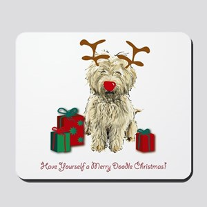 Merry Doodle Christmas Mousepad