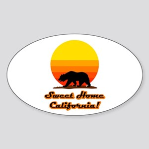 Sweet Home California Oval Sticker
