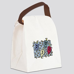 dreidel copy Canvas Lunch Bag