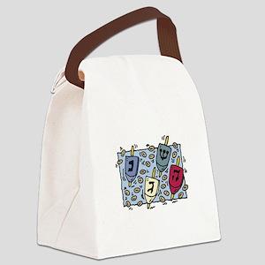 dreidel copy Canvas Lunch Bag