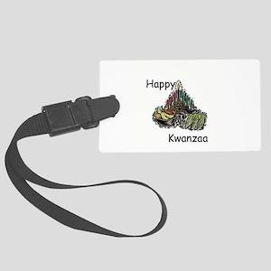 3-kwanzaa,happy Large Luggage Tag