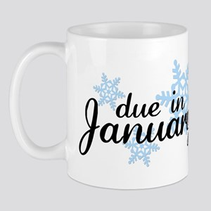 Due In January Snowflake Mug