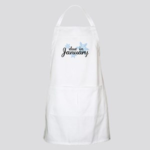 Due In January Snowflake BBQ Apron