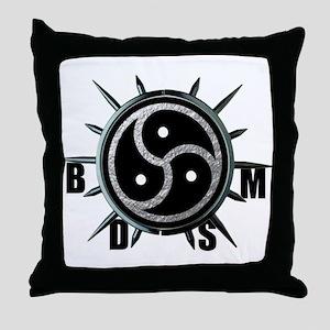 Spiked Collar BDSM Symbol Throw Pillow