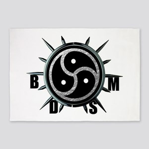 Spiked Collar BDSM Symbol 5'x7'Area Rug