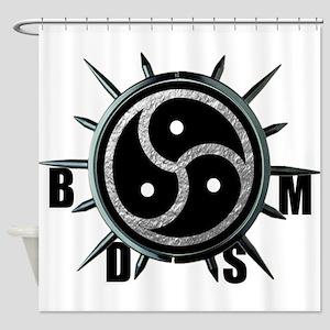 Spiked Collar BDSM Symbol Shower Curtain