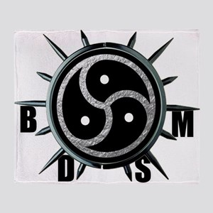Spiked Collar BDSM Symbol Throw Blanket