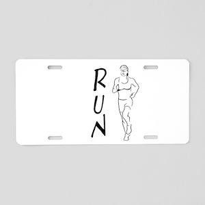 RUN Woman Aluminum License Plate