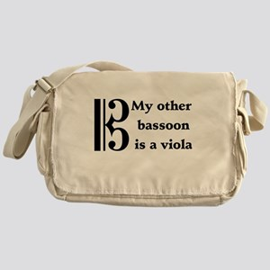 My Other Bassoon Is A Viola Messenger Bag